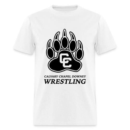 CC Paw Shirt - White/Black Print - Men's T-Shirt