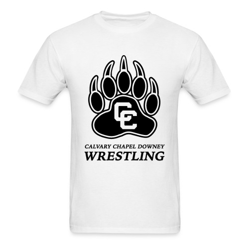CC Paw Shirt - White/Black Print - Men's T-Shirt