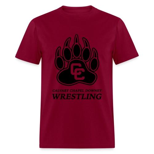 CC Paw Shirt - Burgundy/Black Print - Men's T-Shirt