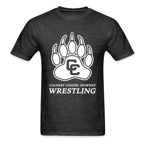 CC Paw Shirt - Heather Black/White Print - Men's T-Shirt