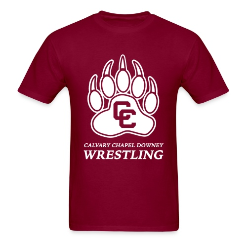 CC Paw Shirt - Burgundy/White Print - Men's T-Shirt