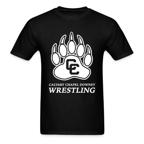 CC Paw Shirt - Black/White Print - Men's T-Shirt