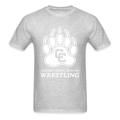 CC Paw Shirt - Gray/White Print - Men's T-Shirt