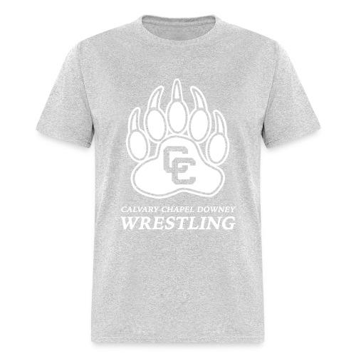CC Paw Shirt - Gray/White Print - Men's T-Shirt