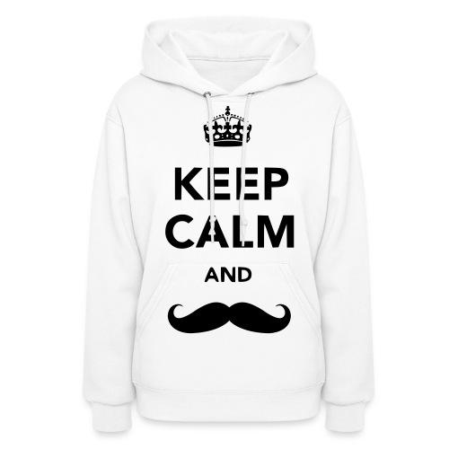 Keep Calm and Mustache: Women's - Women's Hoodie