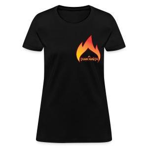Flame Women's T-Shirt (BLACK) - Women's T-Shirt