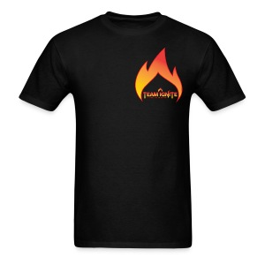 Flame Men's T-Shirt (BLACK) - Men's T-Shirt