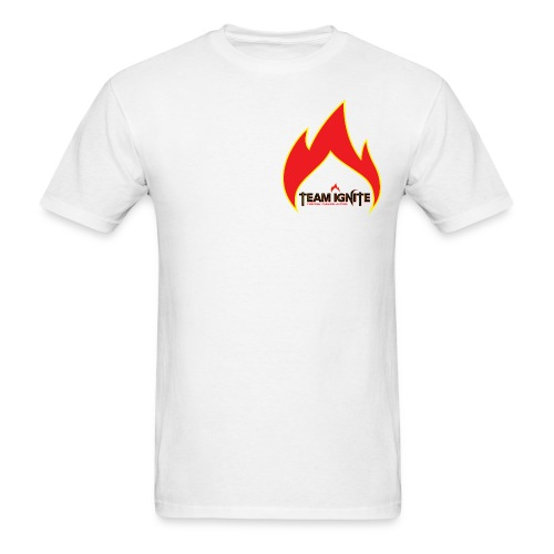 Flame Men's T-Shirt (WHITE) - Men's T-Shirt