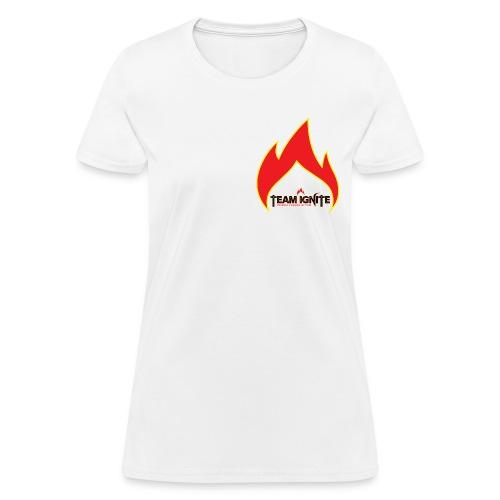 Flame Women's T-Shirt (WHITE) - Women's T-Shirt