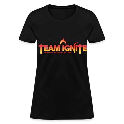Team Ignite Women's T-Shirt (BLACK) - Women's T-Shirt