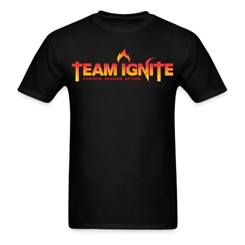 Team Ignite Men's T-Shirt (BLACK) - Men's T-Shirt
