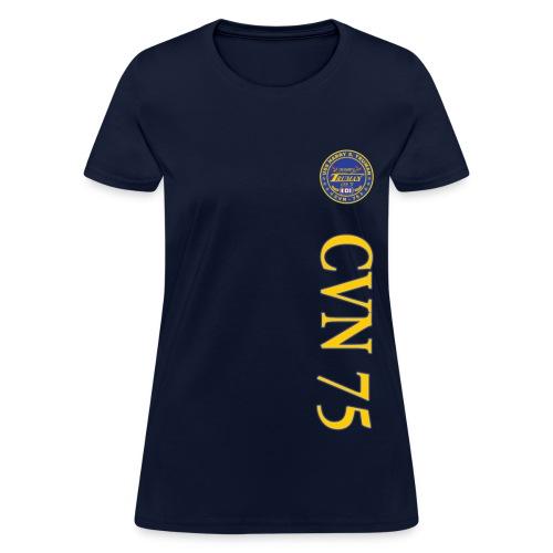 USS HARRY S TRUMAN CVN-75 VERTICAL STRIPE TEE - WOMENS - Women's T-Shirt