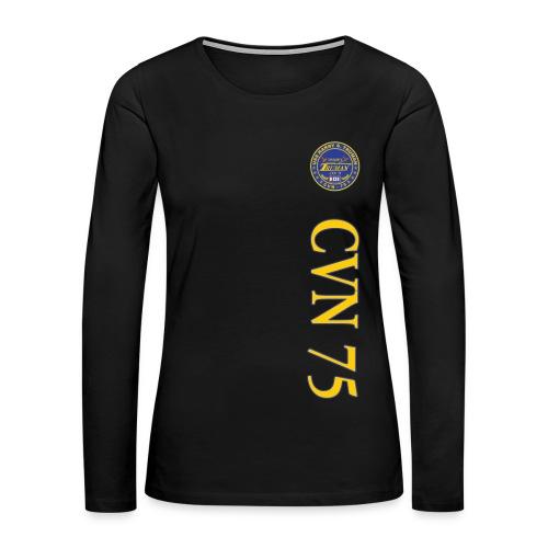 USS HARRY S TRUMAN CVN-75 VERTICAL STRIPE LONG SLEEVE - WOMENS - Women's Premium Long Sleeve T-Shirt