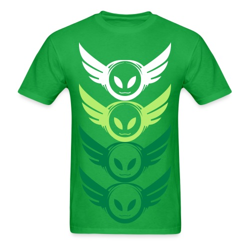 Betamorph 4-up alien logo green shirt - Men's T-Shirt