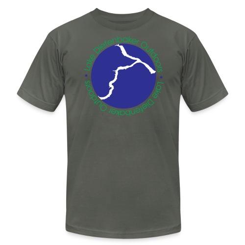 MENS LARGE WHITE LOGO T-SHIRT - Men's Fine Jersey T-Shirt