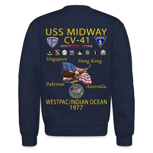 USS MIDWAY CV-41 1977 WESTPAC/IO CRUISE SWEATSHIRT - Crewneck Sweatshirt