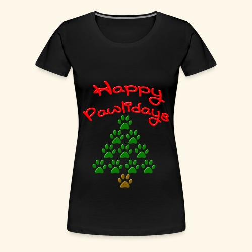 Happy Pawlidays Tee - Women's Premium T-Shirt