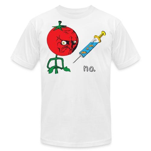 no. Anti-GMO Tomato Meme - Men's Fine Jersey T-Shirt