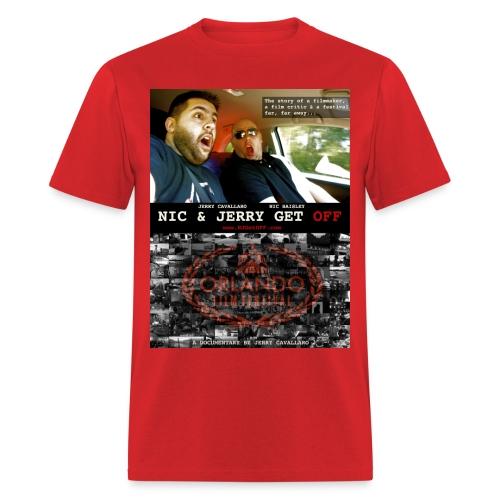 N & J Get OFF Poster Shirt - Men's T-Shirt