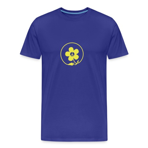 * PeaceFlower Unplugged * ☮ ✿  - Men's Premium T-Shirt