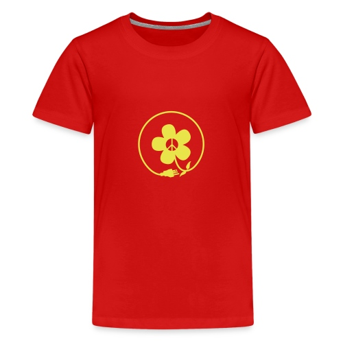 * PeaceFlower Unplugged * ☮ ✿  - Kids' Premium T-Shirt