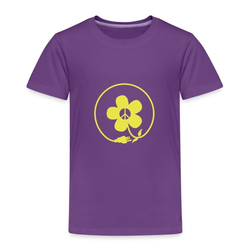 * PeaceFlower Unplugged * ☮ ✿  - Toddler Premium T-Shirt