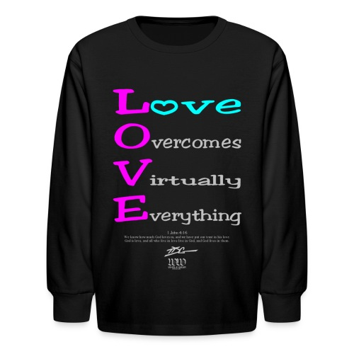 L.O.V.E - Kids' Long Sleeve T-Shirt