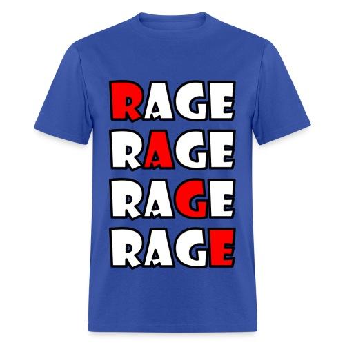 Rage X4 - Outline - Men's T-Shirt