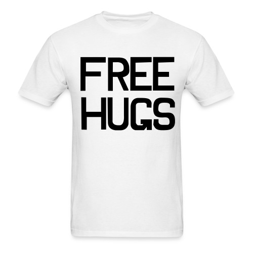White Free hugs T-Shirts (Short sleeve) - Men's T-Shirt