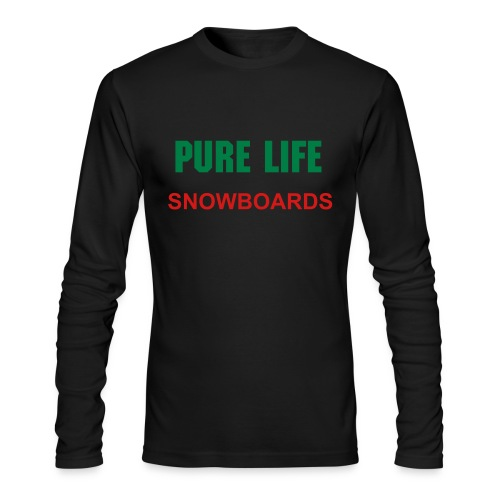Men's Long Sleeve T-Shirt by Next Level - Black Longsleeve Pure Life TShirt