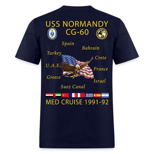USS NORMANDY MED CRUISE 1991-92 CRUISE SHIRT - Men's T-Shirt