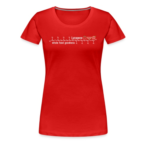 Lycopene: whole food goodness  - Molecule Tee - Women's Premium T-Shirt