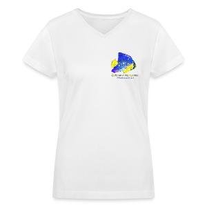 Queen Angelfish - Women's V-Neck T-Shirt