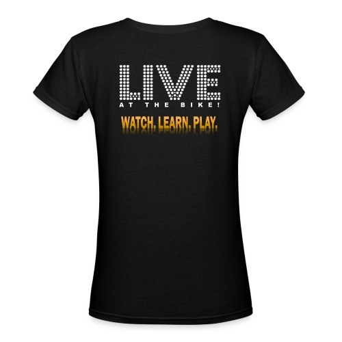 Women's V-Neck PokerNetcast.com Live at the Bike T-Shirt - Women's V-Neck T-Shirt