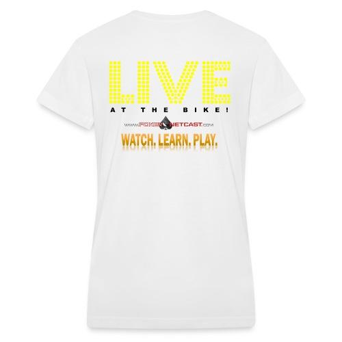 Women's V-Neck Joker Gaming Watch.Learn.Play. Live at the Bike T-Shirt - Women's V-Neck T-Shirt