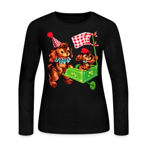 Toddler Puppy Power - Women's Long Sleeve Jersey T-Shirt