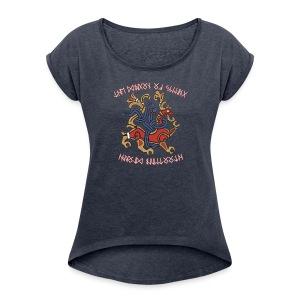 The Jelling Dragon - Women's Roll Cuff T-Shirt