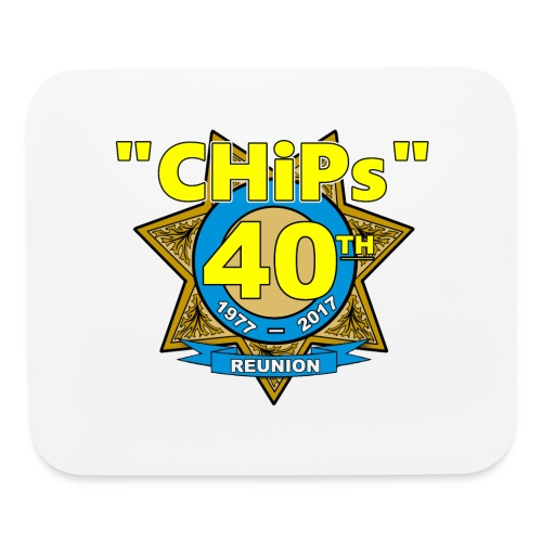 CHiPs 40th Mousepad - Mouse pad Horizontal