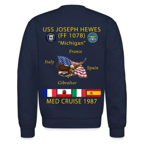USS JOSEPH HEWES FF-1078 1987 CRUISE SWEATSHIRT - Crewneck Sweatshirt