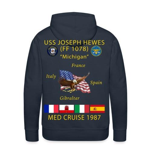 USS JOSEPH HEWES FF-1078 1987 CRUISE HOODIE - Men's Premium Hoodie
