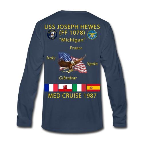 USS JOSEPH HEWES FF-1078 1987 CRUISE SHIRT - LONG SLEEVE - Men's Premium Long Sleeve T-Shirt