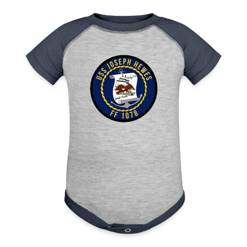 USS JOSEPH HEWES FF-1078  BABY ONE PIECE - Contrast Baby Bodysuit
