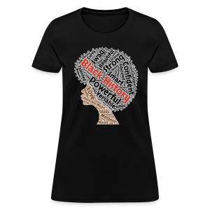 Black History Month Afro Natural Hair T-Shirt - Women's T-Shirt