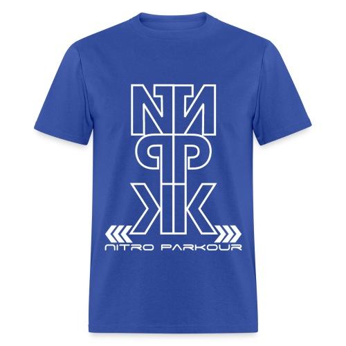 BLU NPK white mirror - Men's T-Shirt
