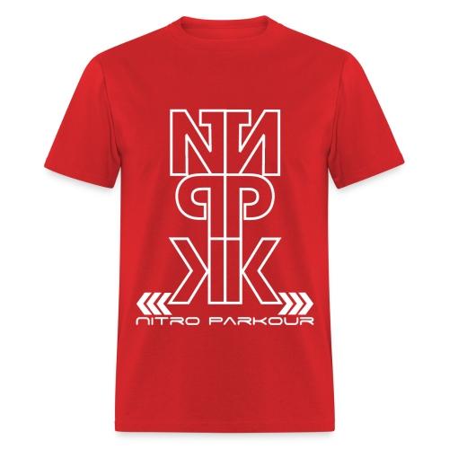RED NPK white mirror - Men's T-Shirt