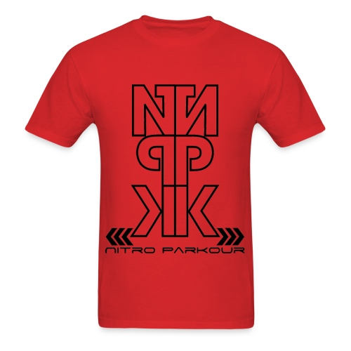 RED NPK black mirror - Men's T-Shirt