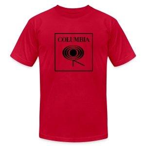 Columbia (black logo) Red Tee (AA) - Men's T-Shirt by American Apparel
