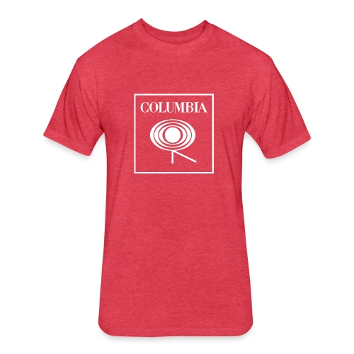 Columbia (white logo) Red Tee (NL) - Fitted Cotton/Poly T-Shirt by Next Level