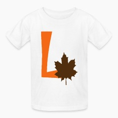 l_leaf2 Kids' Shirts
