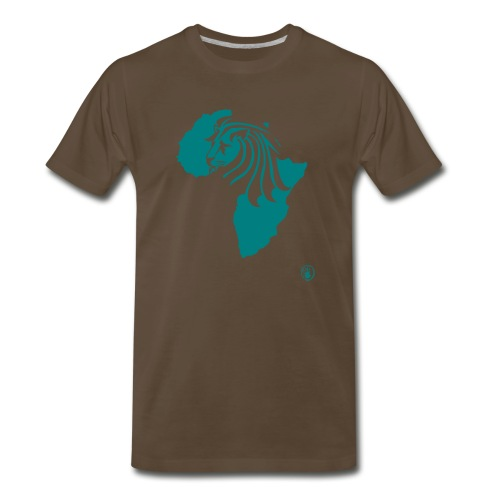 Lion Head Africa Teal - Men's Premium T-Shirt
